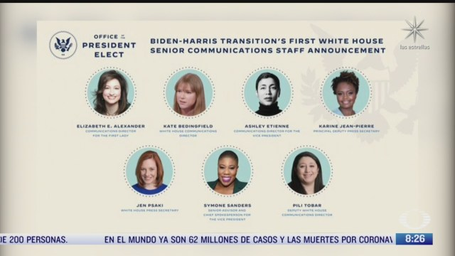 historico equipo de comunicacion de biden estara integrado solo por mujeres