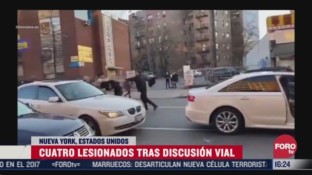 hombre atropella a otro tras discusion vial en nueva york