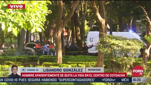hombre se suicida en el parque centenario de coyoacan