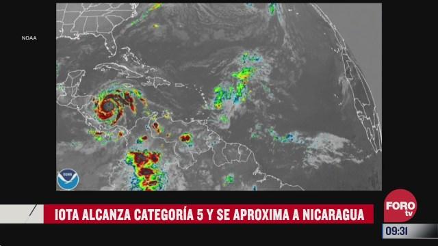 huracan iota se intensifica a categoria