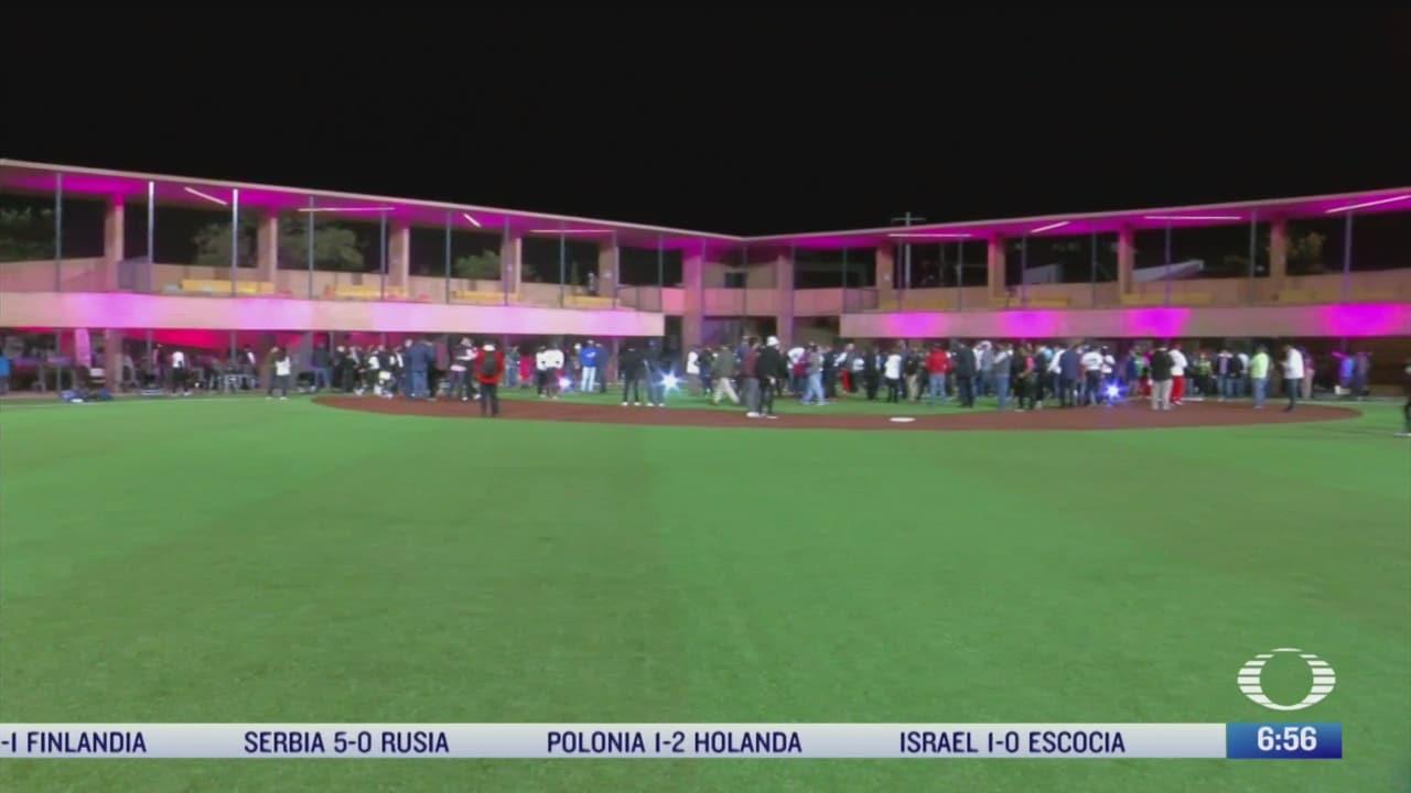 inauguran parque de beisbol en nuevo leon