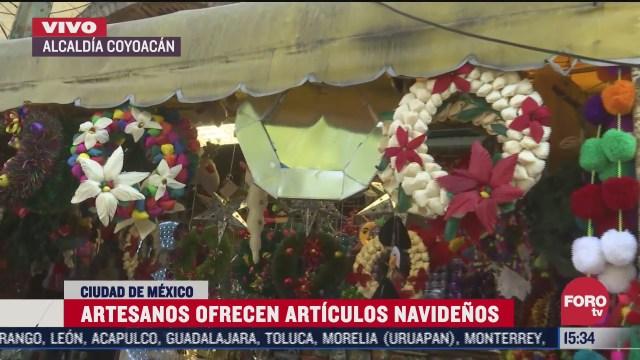 inicia venta artesanal navidena en coyoacan