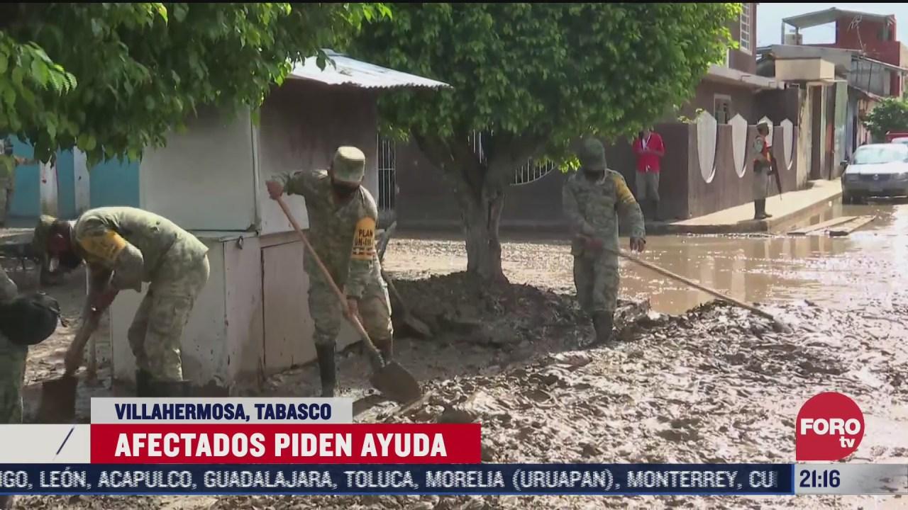 inundaciones y deslave afectan a pobladores de tabasco