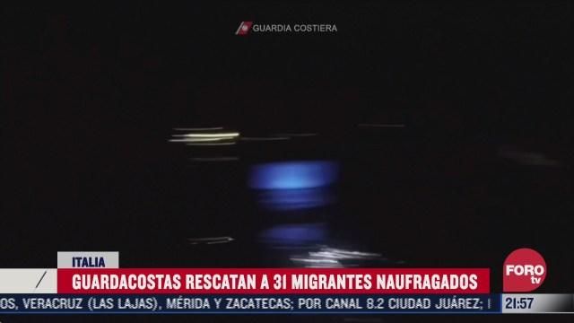 italia rescata a 31 migrantes de naufragio