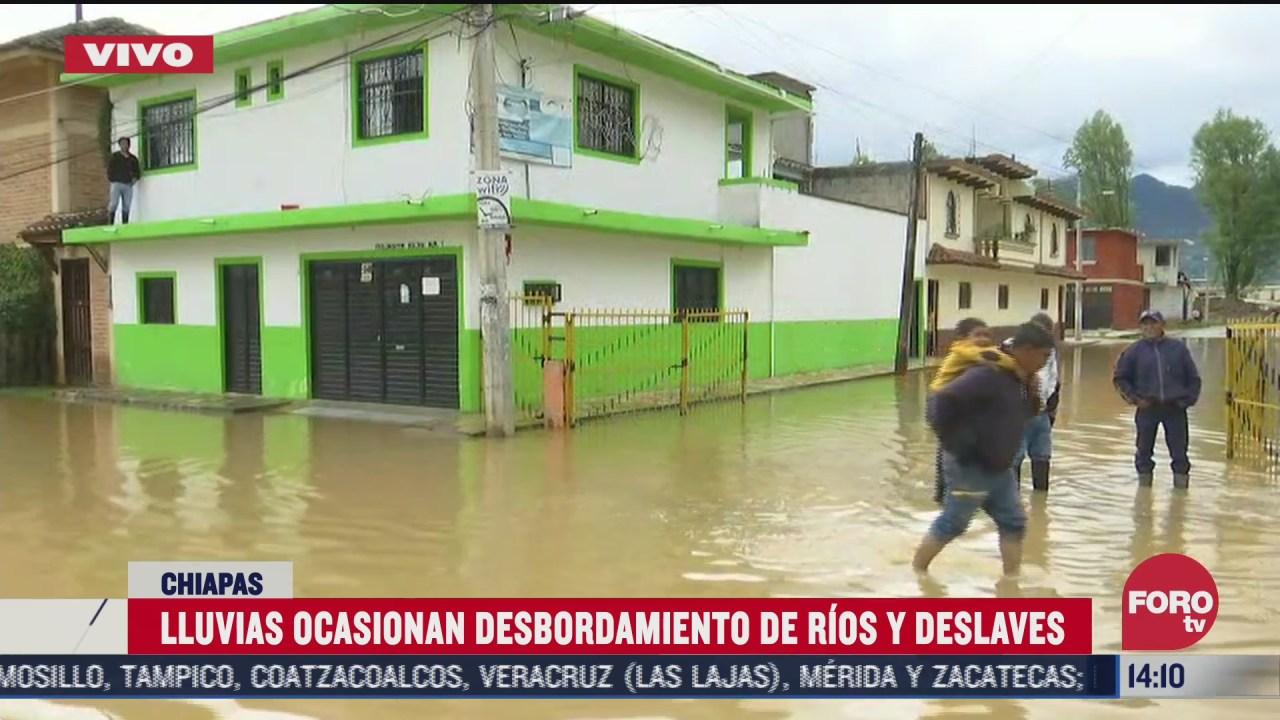 lluvias ocasionan desbordamientos de rios y deslaves en san cristobal de las casas chiapas