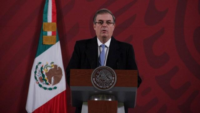 Marcelo Ebrard Casaubon, secretario de Relaciones Exteriores, en conferencia de prensa desde Palacio Nacional
