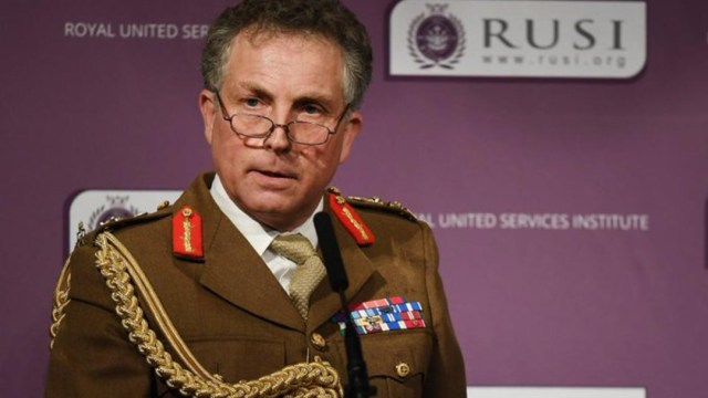El general Nick Carter, jefe del Estado Mayor de las Fuerzas Armadas británicas. (Foto: Twitter)