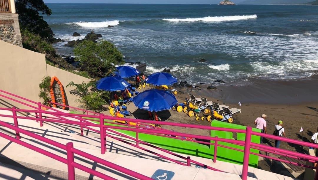 Ojo de Agua, la playa incluyente de Guerrero para personas con capacidades diferentes