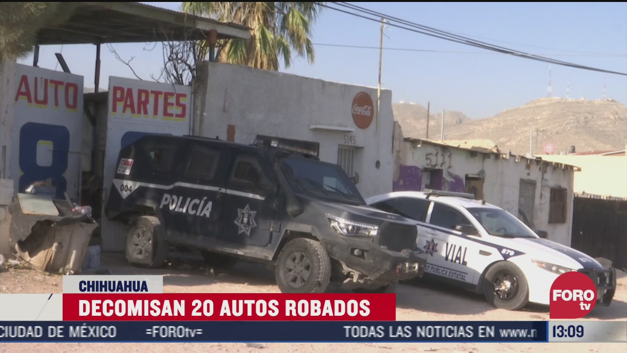 policias aseguran vehiculos robados en chihuahua