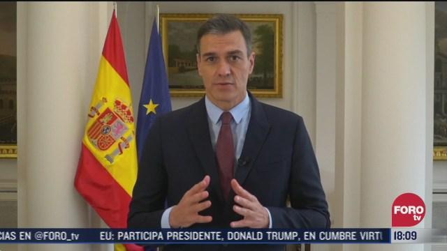 presidente de espana llama al covid 19 el mayor desafio mundial