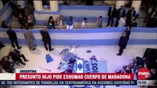 presunto hijo de maradona pide exhumar el cuerpo del