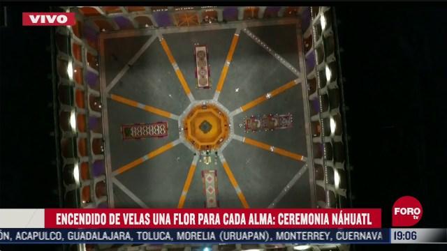realizan ceremonia nahuatl por dia de muertos en palacio nacional