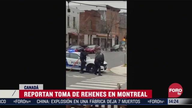 reportan toma de rehenes en montreal canada