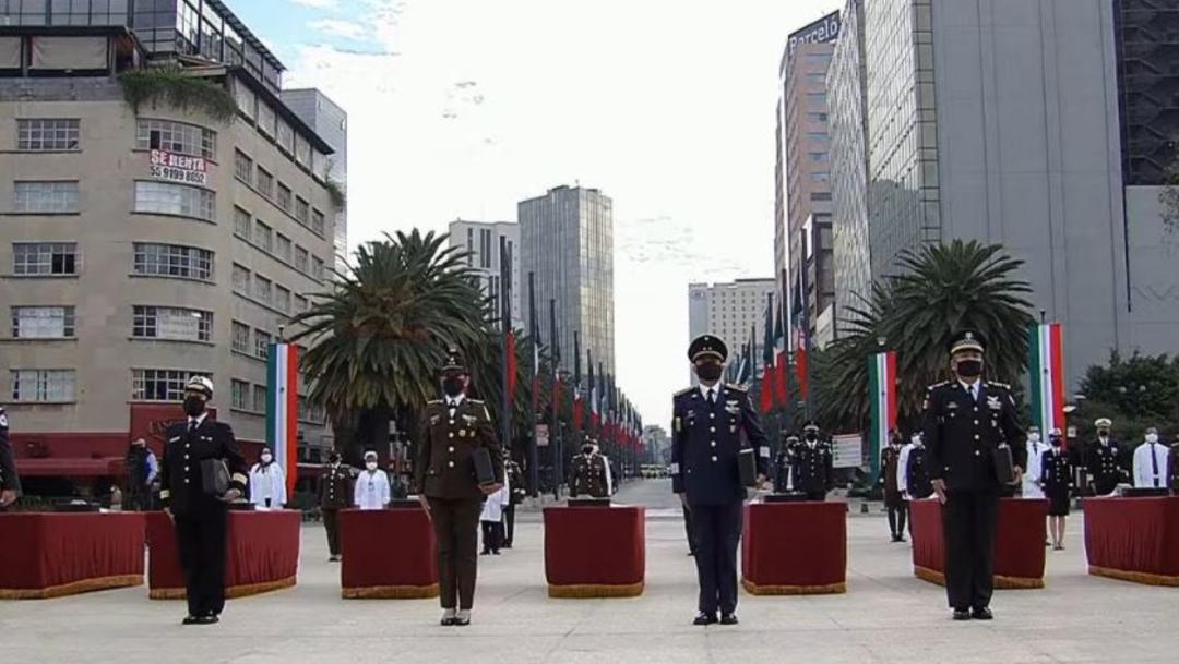 Ceremonia del 110 aniversario del inicio de la Revolución Mexicana. (Foto: @Luis_C_Sandoval)