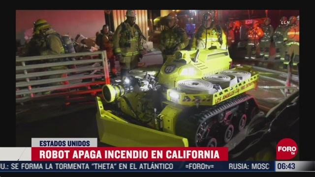 robot apaga incendio en estados unidos