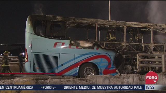 se incendia autobus de pasajeros en av insurgentes norte