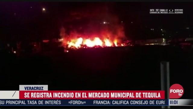 se incendia mercado municipal de tequila veracruz