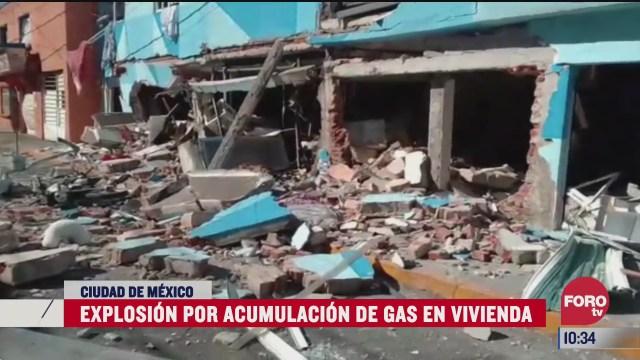 se registra explosion por acumulacion de gas en colonia tezozomoc