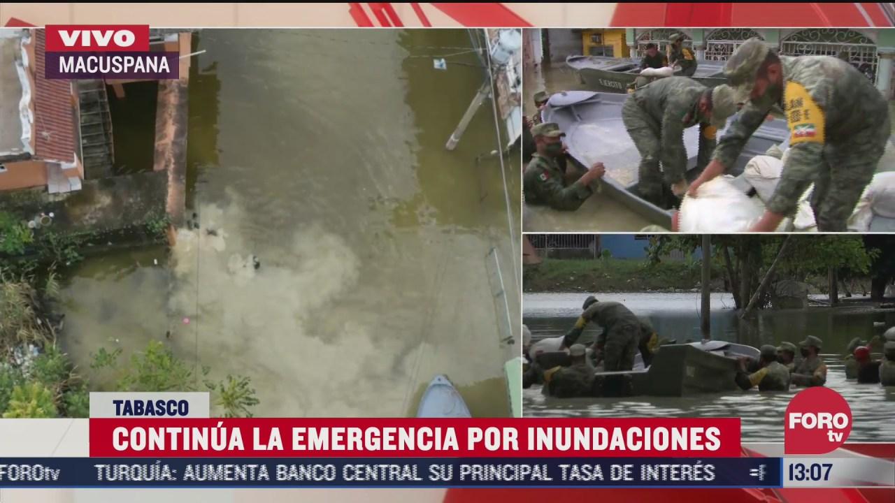 siguen inundaciones en tabasco