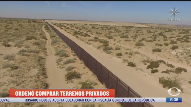 trump compro terrenos privados para construir muro con mexico