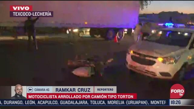 un hombre de aproximadamente 35 anos murio tras ser impactado por un camion de carga en la carretera texcoco lecheria