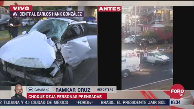 una persona queda prensada tras choque frente al metro ecatepec