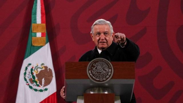 Andrés Manuel López Obrador, presidente de México, durante la conferencia mañanera en Palacio Nacional