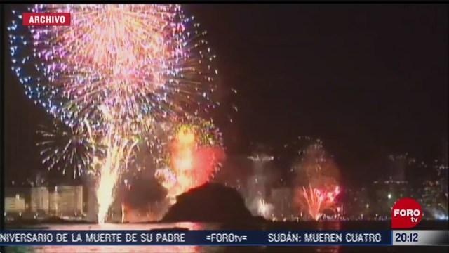 cancelan gala pirotecnica de fin de ano en acapulco guerrero