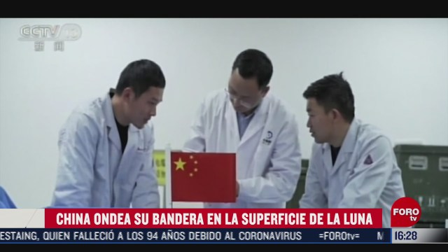 china despliega su bandera sobre la luna