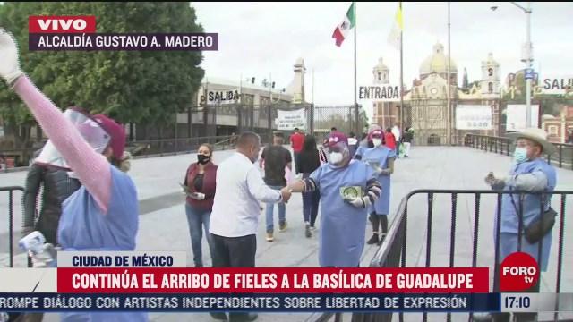 continua arribo de fieles a basilica de guadalupe con filtros sanitarios