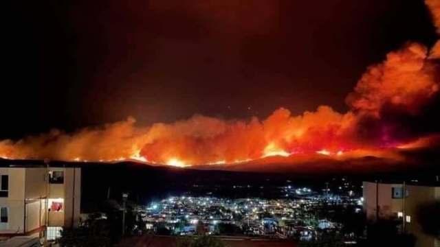 Continúan labores para sofocar incendio forestal en Baja California