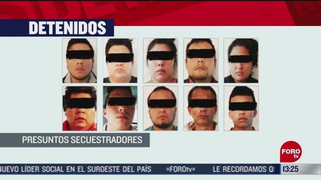 desarticulan banda de secuestradores en veracruz