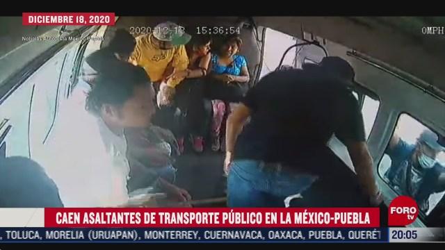 detiene a cuatro cuando intentaban asaltar a pasajeros en la mexico puebla