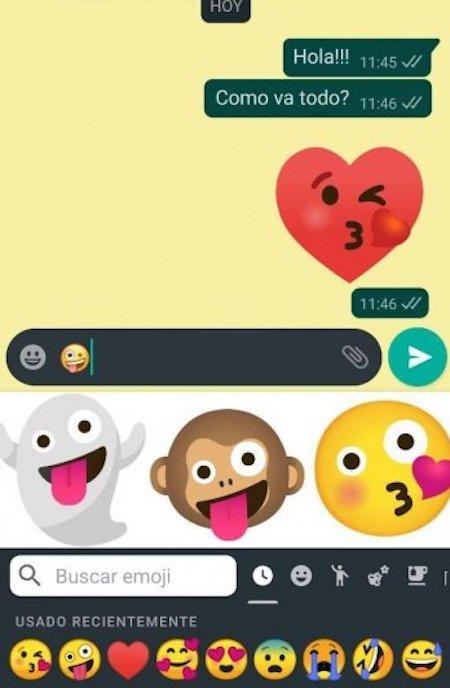 Cómo combinar emojis en WhatsApp