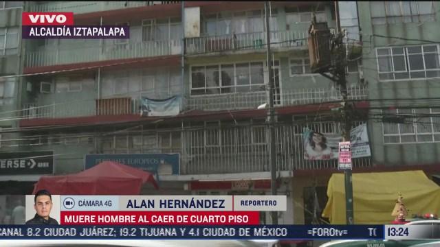 hombre cae de cuarto piso en iztapalapa