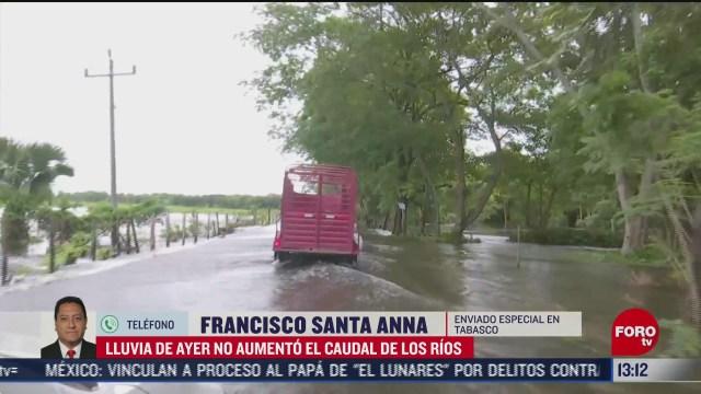 lluvia no aumento caudal de rios en tabasco