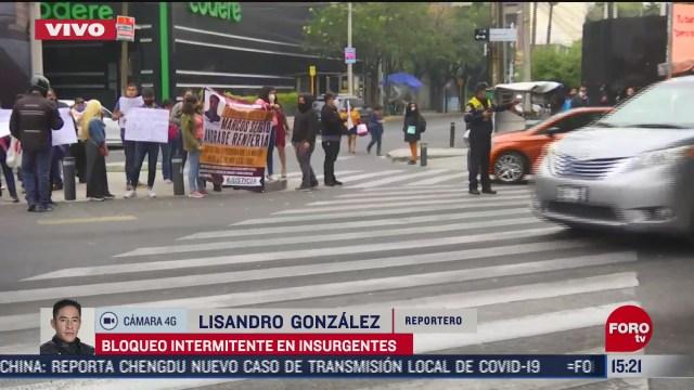 manifestantes bloquean av insurgentes por muerte de joven en