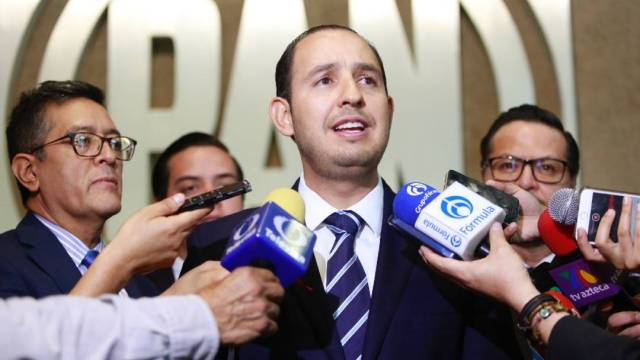 El presidente nacional del PAN, Marko Cortés, dice que alianza inédita con el PRI y el PRD busca 'frenar la destrucción del país'