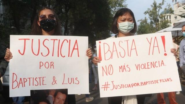 Protestas en la CDMX por asesinatos de empresario francés y su socio