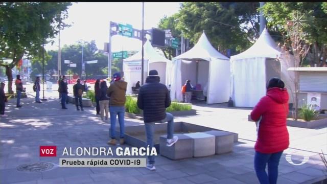 saturacion de kioscos covid en la ciudad de mexico