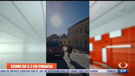 se registra sismo de 6 3 en croacia