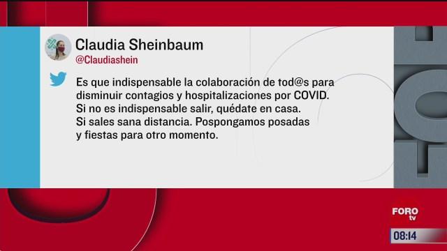 sheinbaum pide mantener restricciones sanitarias ante covid