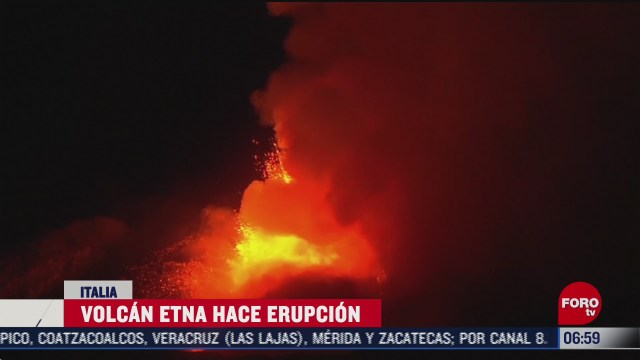 volcan etna hace erupcion en italia