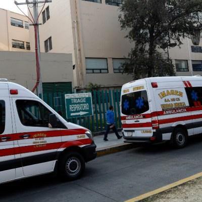 Ambulancias en el Centro Médico Siglo XXI