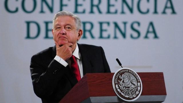 El presidente Andrés Manuel López Obrador, en su conferencia de prensa matutina