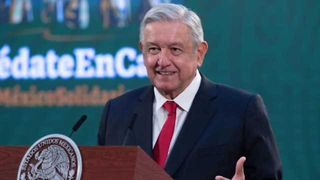 El presidente Andrés Manuel López Obrador, en su conferencia de prensa matutina.