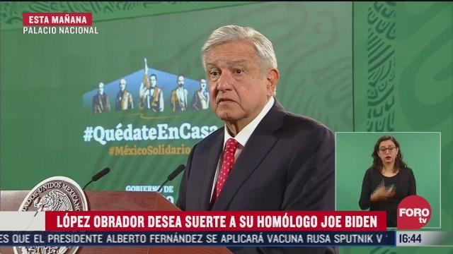 amlo desea suerte a joe biden nuevo presidente de eeuu