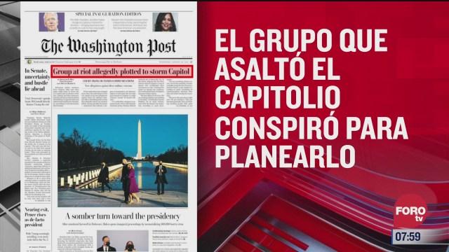 analisis de las portadas nacionales e internacionales del 20 de enero del