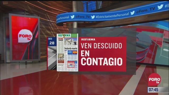 analisis de las portadas nacionales e internacionales del 28 de enero del