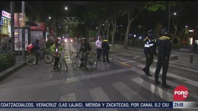 asi se vivio la movilizacion de ciclistas este 27 de enero
